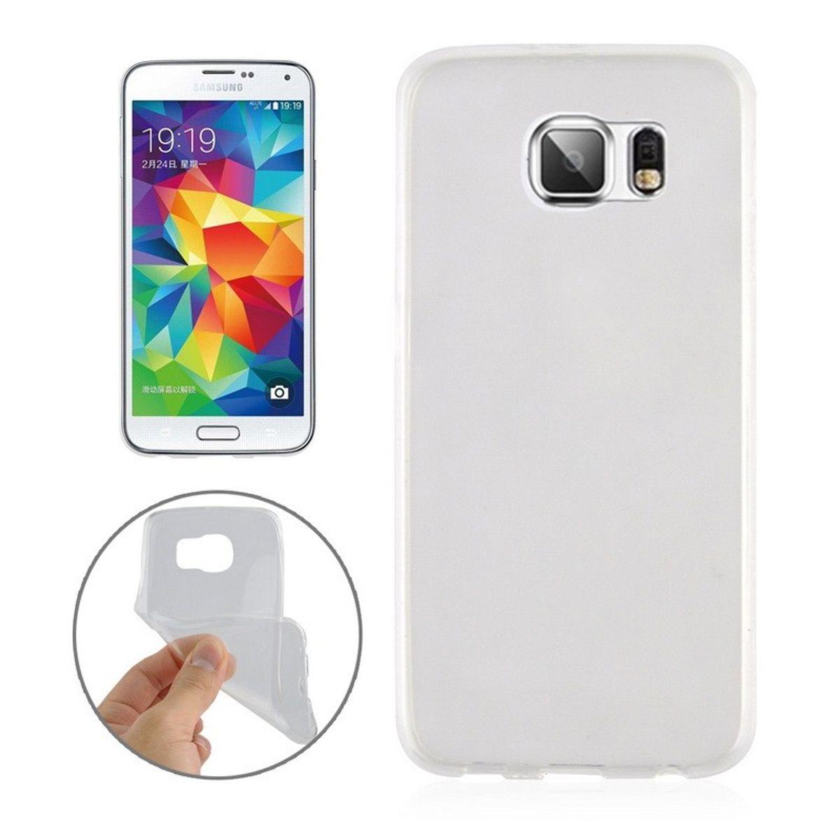 Ultra Dünn Schutzhülle Handytasche Etuis TPU für Handy Samsung Galaxy S6 Edge Transparent Klar