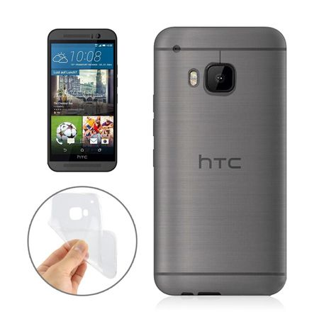 HTC One M9 Transparent Case Hülle Silikon