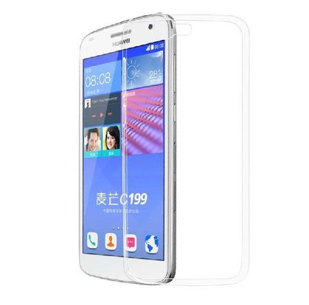 Huawei Ascend G7 Transparent Case Hülle Silikon