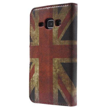 Handyhülle Tasche für Handy Samsung Galaxy J1 Retro Fahne England / UK – Bild 2
