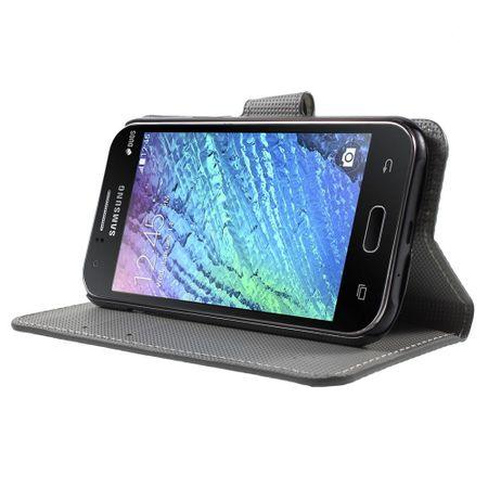 Handyhülle Tasche für Handy Samsung Galaxy J1 Dicke Eule auf Ast – Bild 3