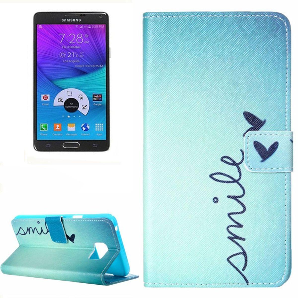 Handyhülle Tasche für Handy Samsung Galaxy Note 5 Smile Lächeln