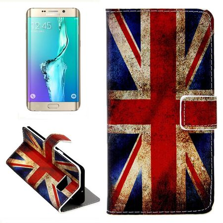 Handyhülle Tasche für Handy Samsung Galaxy S6 Edge Plus Retro Fahne England / UK