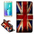Handyhülle Tasche für Handy Samsung Galaxy S6 Edge Plus Retro Fahne England / UK 001