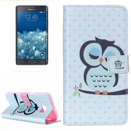 Handyhülle Tasche für Handy Samsung Galaxy Note 5 Edge Dicke Eule auf Ast