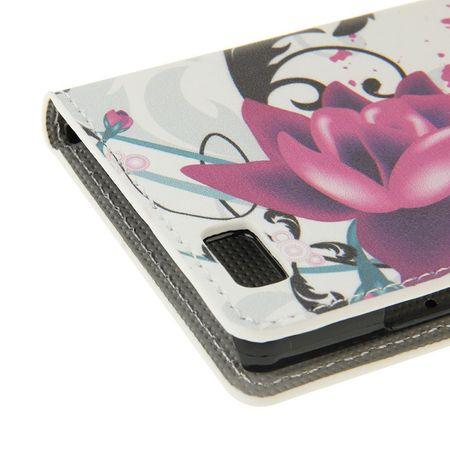 Handyhülle Tasche für Handy Huawei P8 Lite Lotusblume – Bild 6