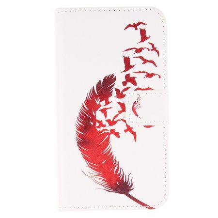 Handyhülle Tasche für Handy Asus Zenfone 2 (5,0 Zoll) Rote Feder – Bild 2