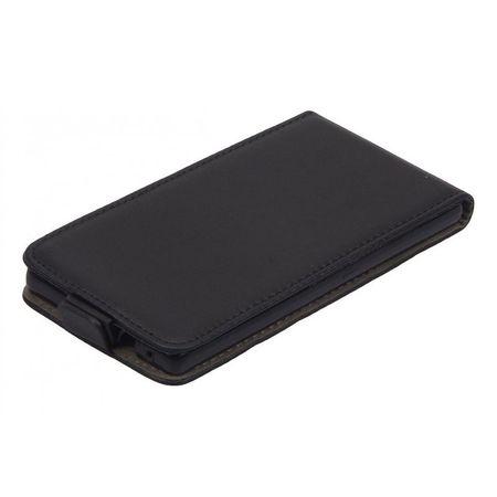 Handy Tasche (Slim Flex) Huawei P8 Schwarz
