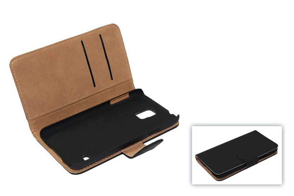 Schutzhülle Handytasche (Flip Quer) Wallet für Handy Wiko Highway Star Schwarz