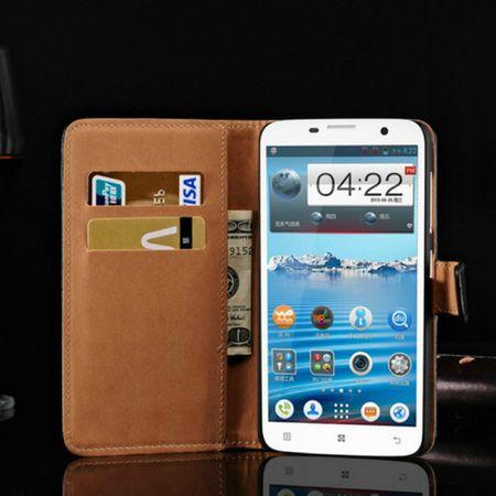 Schutzhülle Handytasche (Flip Quer) Wallet für Handy Lenovo A850 Schwarz