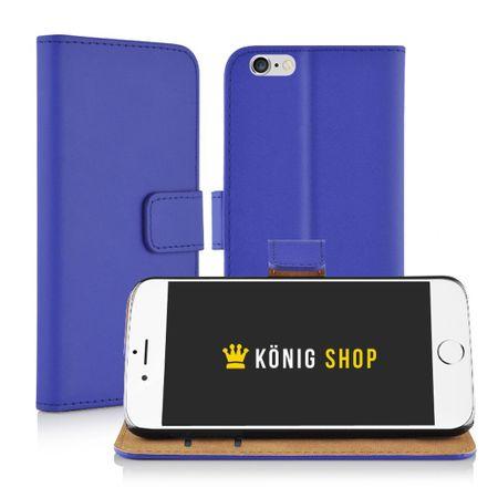 Schutzhülle Handytasche (Flip Quer) Wallet für Handy Samsung Galaxy S6 Edge Dunkelblau