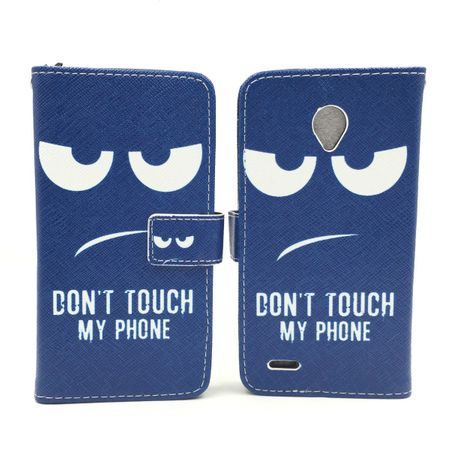 Handyhülle Tasche für Handy Vodafone Smart Prime 6 Dont Touch my Phone – Bild 5
