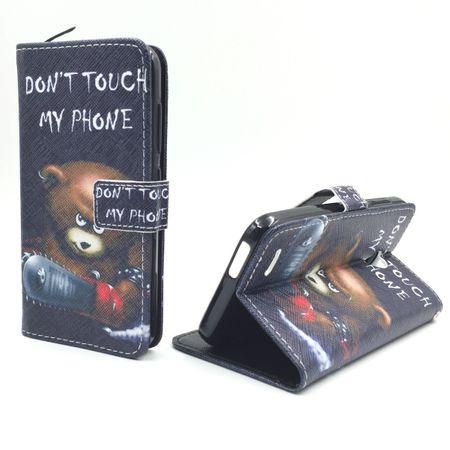 Handyhülle Tasche für Handy Vodafone Smart Prime 6 Schriftzug Bär mit Kettensäge