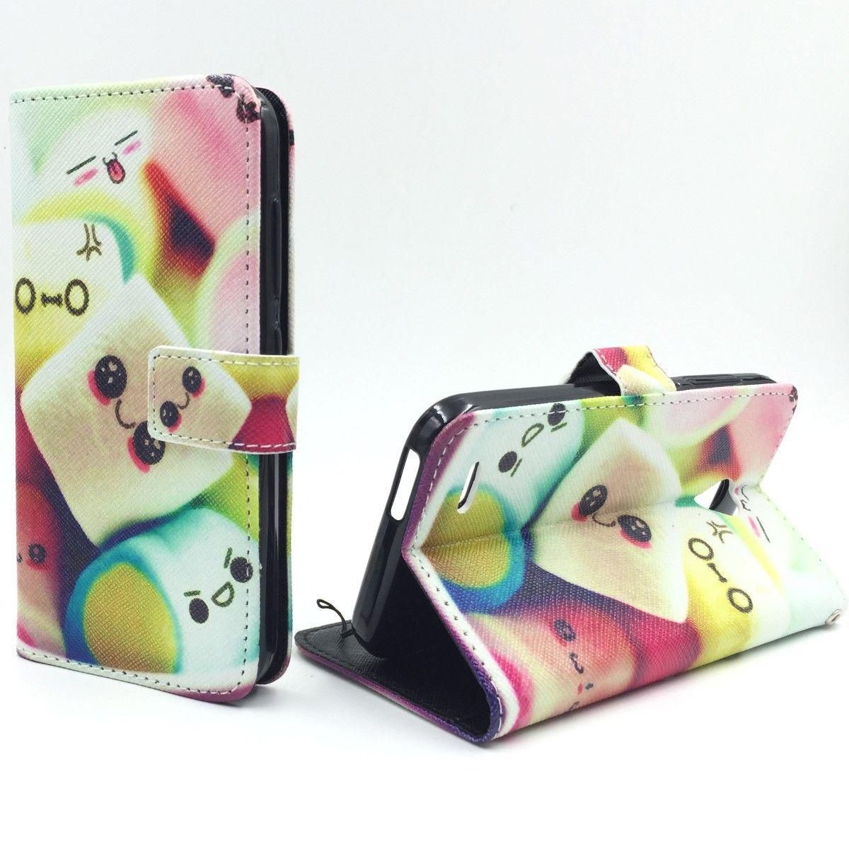Handyhülle Tasche für Handy Vodafone Smart Prime 6 Schriftzug Marshmallows