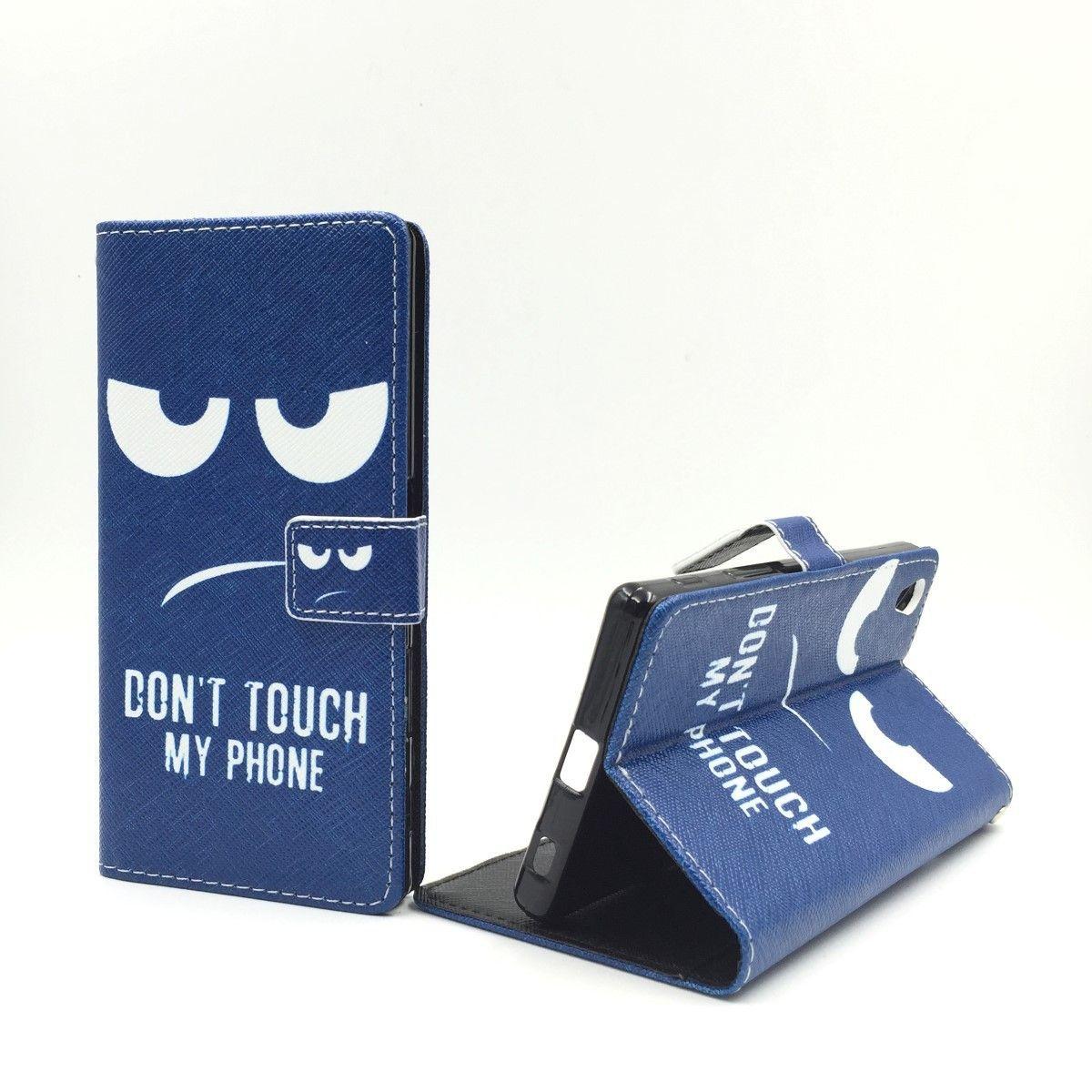 Handyhülle Tasche für Handy Sony Xperia Z5 Dont Touch my Phone