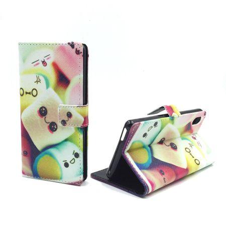 Handyhülle Tasche für Handy Sony Xperia M4 Aqua Schriftzug Marshmallows – Bild 1