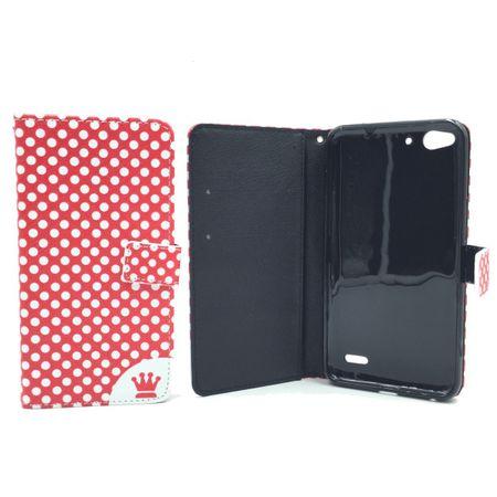 Handyhülle Tasche für Handy Vodafone Smart Ultra 6 Polka Dot Rot – Bild 3