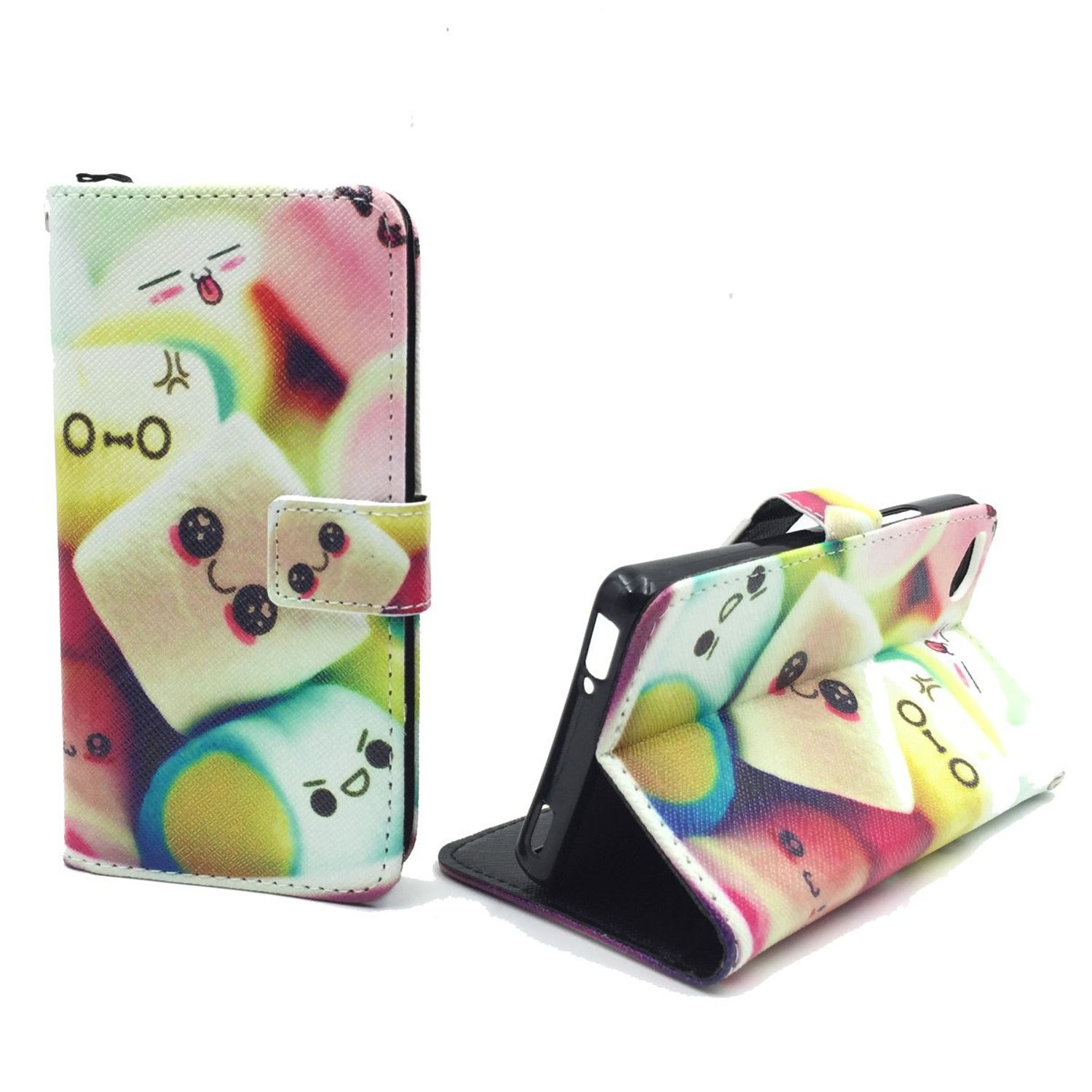 Handyhülle Tasche für Handy ZTE Nubia Z9 Mini Schriftzug Marshmallows