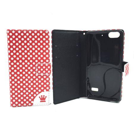 Handyhülle Tasche für Handy Huawei G Play Mini Polka Dot Rot – Bild 3