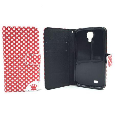 Handyhülle Tasche für Handy Samsung Galaxy S4 Polka Dot Rot – Bild 6