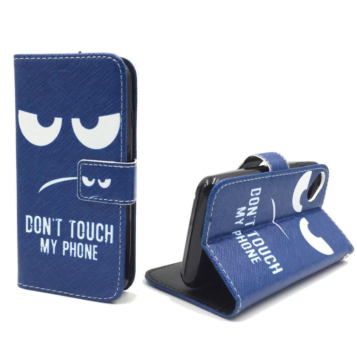 Handyhülle Tasche für Handy Wiko Sunset 2 Dont Touch my Phone