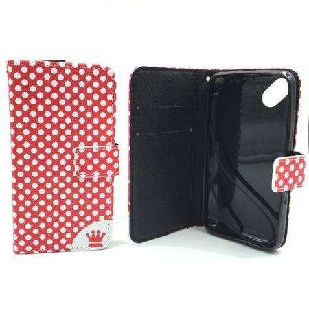Handyhülle Tasche für Handy Wiko Sunset 2 Polka Dot Rot – Bild 6