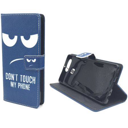 Dont Touch My Phone Handyhülle Huawei P9 Klapphülle Wallet Case – Bild 5