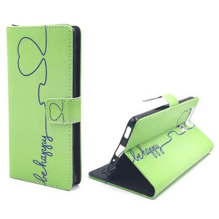 Handyhülle Tasche für Handy Huawei P9 Be Happy Grün – Bild 4