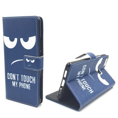 Dont Touch My Phone Handyhülle Huawei P9 Lite Klapphülle Wallet Case