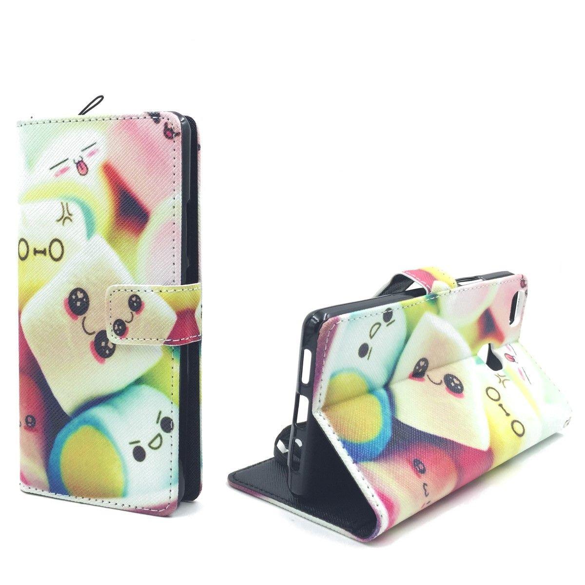 Handyhülle Tasche für Handy Huawei P9 Lite Schriftzug Marshmallows