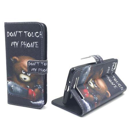 Handyhülle Tasche für Handy Xiaomi Redmi 3 Schriftzug Bär mit Kettensäge