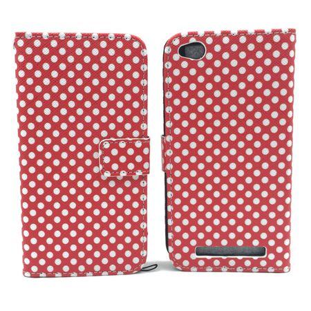 Handyhülle Tasche für Handy Xiaomi Redmi 3 Polka Dot Rot