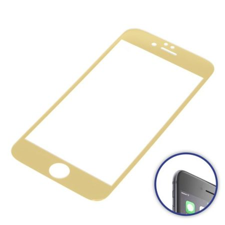 2 x DISPLAYSCHUTZFOLIE 3D CURVED KOMPATIBEL ZU APPLE IPHONE 6 / IPHONE 6S GOLD