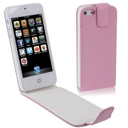 Handy Tasche Flip dünn für Handy iPhone SE Pink