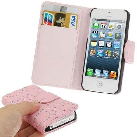 Schutzhülle (Flip Quer) für Handy Apple iPhone SE Rosa
