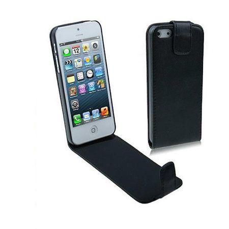 Handy Tasche Flip dünn für Handy iPhone SE Schwarz