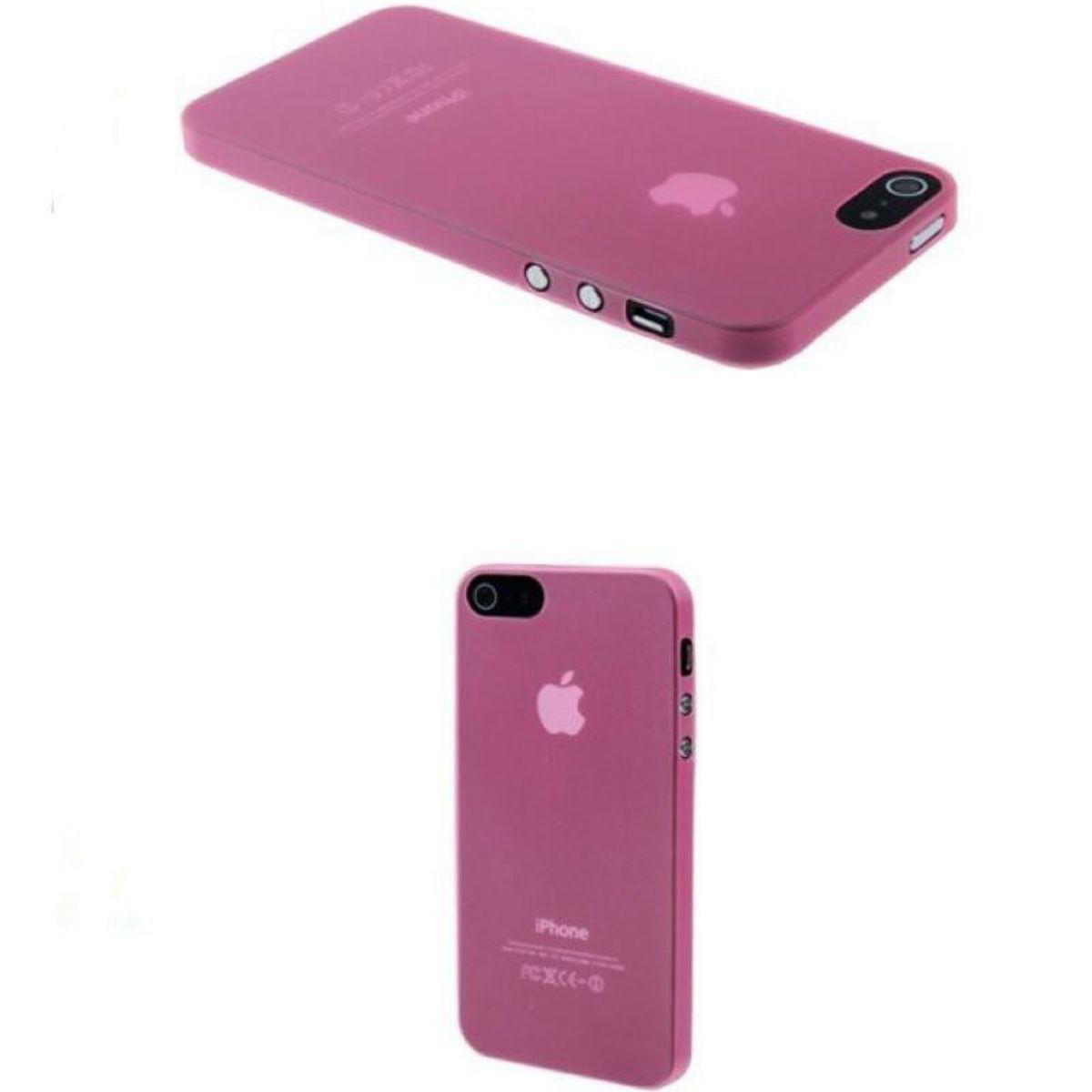 Schutzhülle Case Ultra Dünn 0,3mm TPU Apple iPhone SE Rosa Transparent