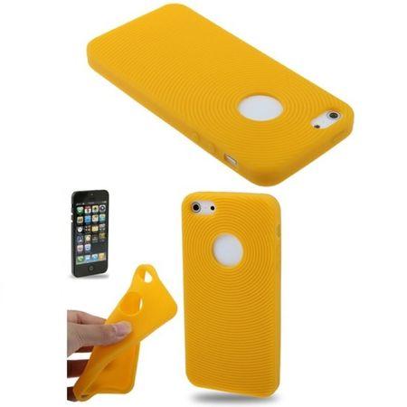 Schutzhülle Silikon Hülle für Handy iPhone SE Gelb