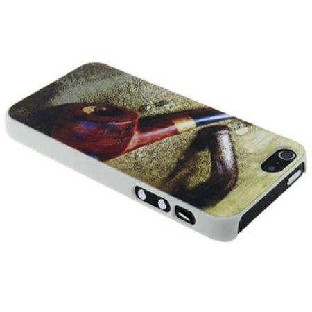 Schutzhülle Case Backcover für Apple iPhone SE Pfeife
