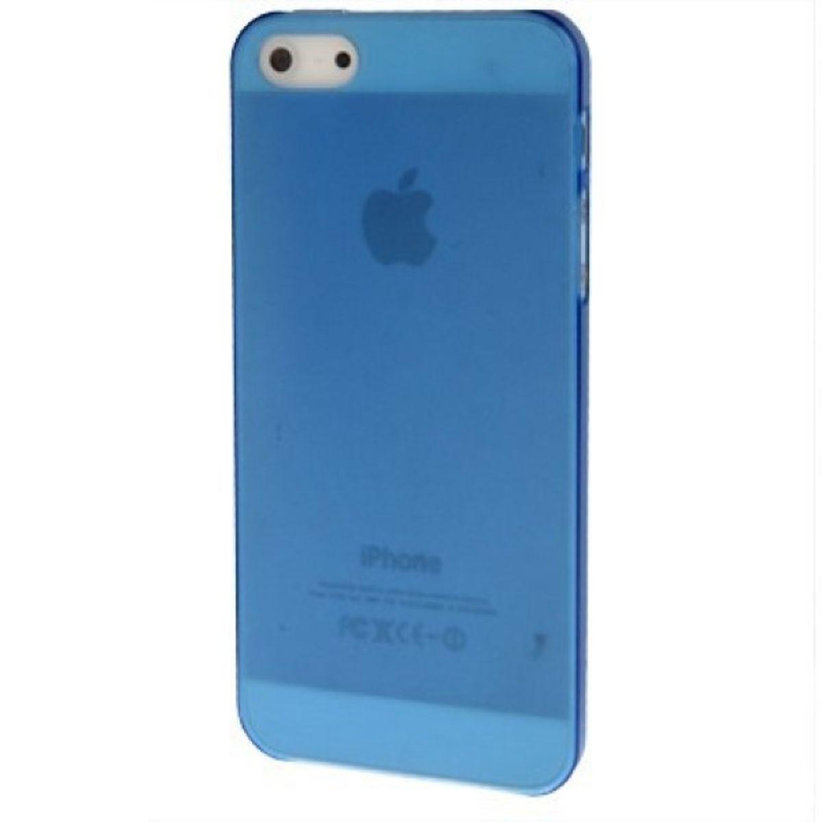 Schutzhülle Ultra Dünn Hülle für Apple iPhone SE Transparent Blau