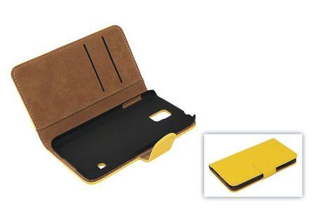 Schutzhülle Handytasche (Flip Quer) für Handy Apple iPhone SE Gelb