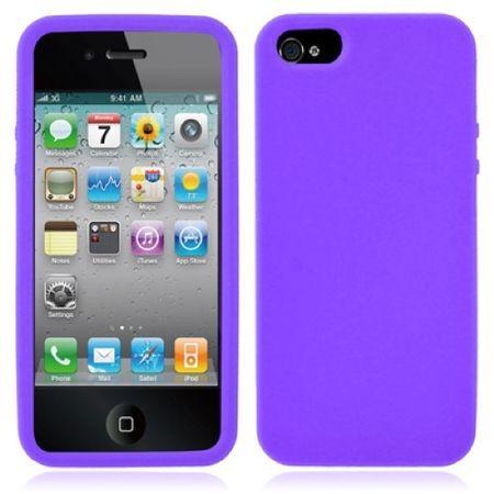 Schutzhülle Silikon Hülle für Handy iPhone SE Lila / Violett