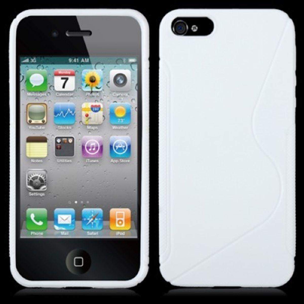 Schutzhülle TPU Hülle für Handy Apple iPhone SE Weiß