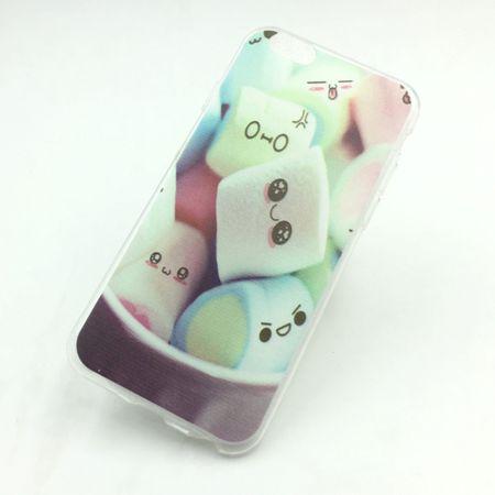 Handy Hülle für Apple iPhone SE Cover Case Schutz Tasche Motiv Slim Silikon TPU Schriftzug Marshmallows
