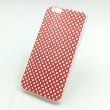 Handy Hülle für Apple iPhone SE Cover Case Schutz Tasche Motiv Slim Silikon TPU Polka Dot Rot