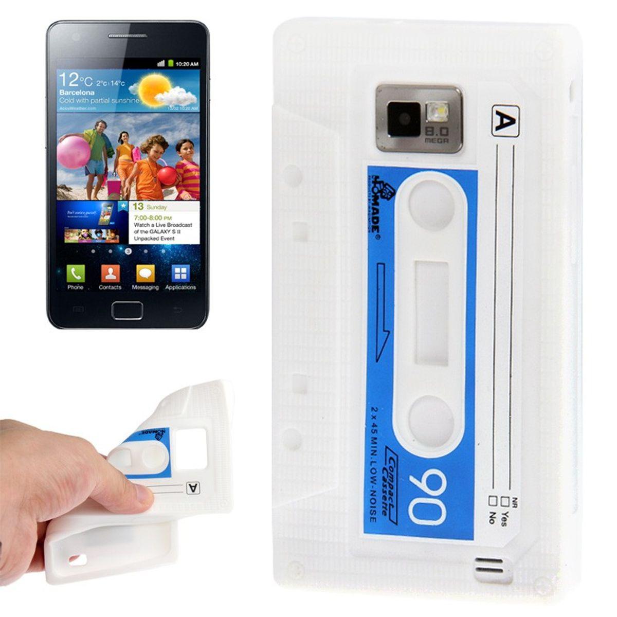 Silikon Hülle Kassette für Samsung Galaxy S2 i9100 weiß