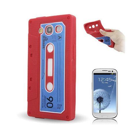 Silikon Hülle Kassette für Handy Samsung I9300 Galaxy S3 Rot