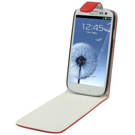 Handy Tasche Flip dünn für Samsung Galaxy S3 i9300 / i9305 / S3 NEO i9301 Rot – Bild 3