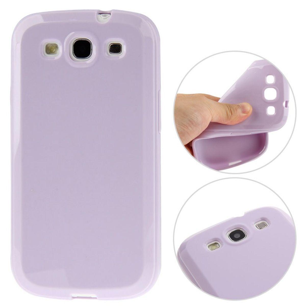 Schutzhülle TPU Case für Handy Samsung I9300 Galaxy S3 lila/violett