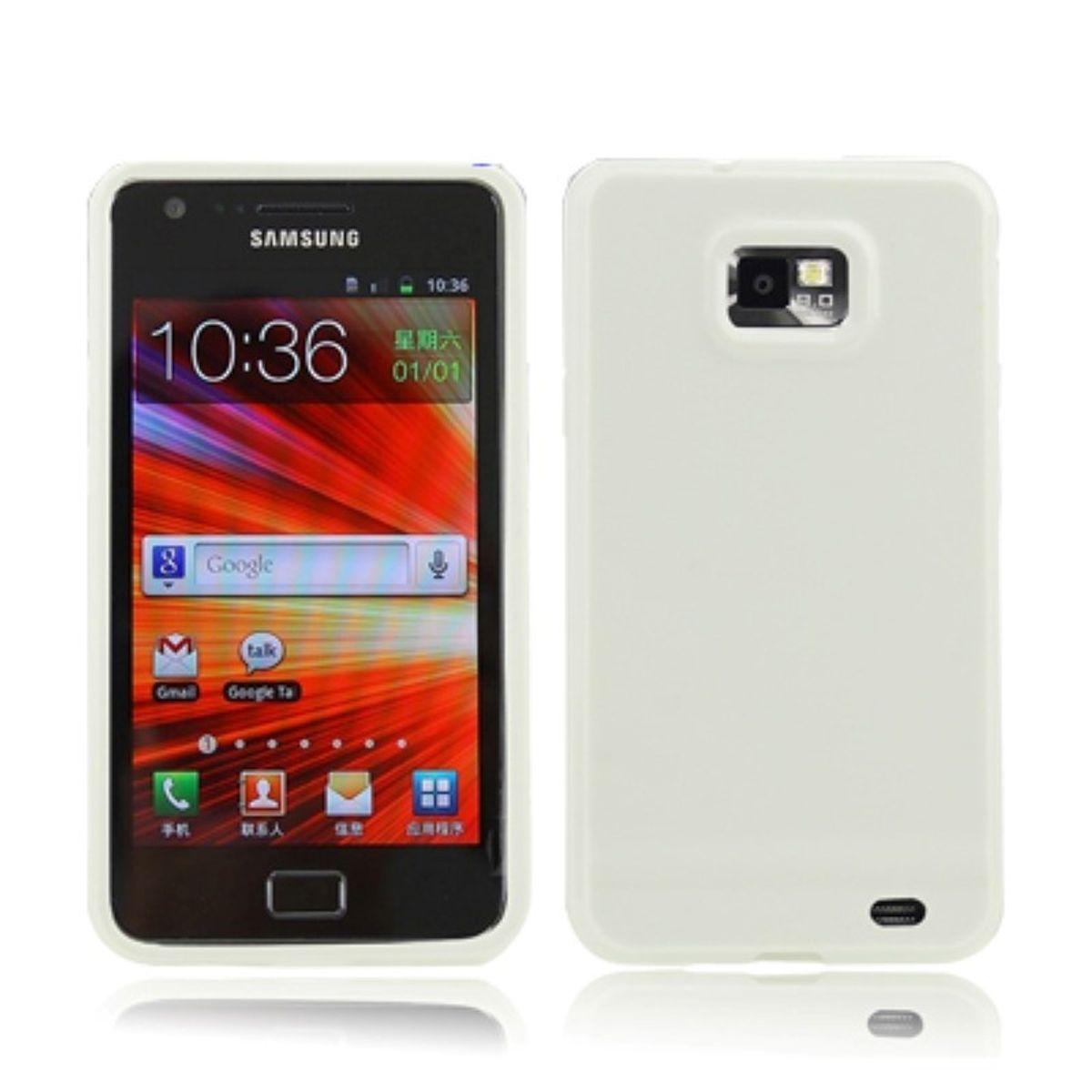 Schutzhülle TPU Case für Handy Samsung I9100 Galaxy S2 Weiß